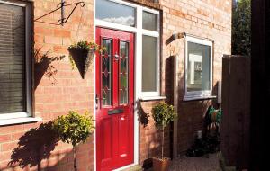 red composite doors exterior