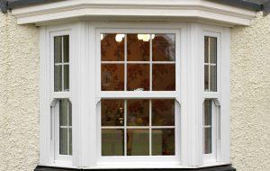 Sliding sash windows with sash horns
