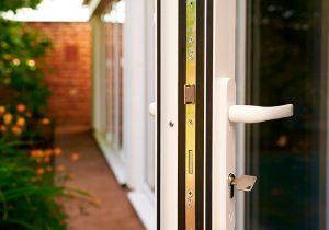multipoint locking system white bi-fold doors