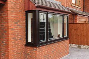 woodgrain effect bay window