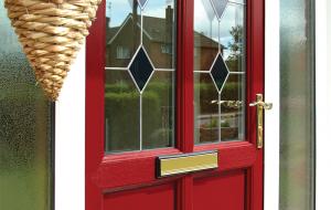 uPVC Doors red close up
