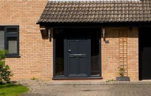 uPVC black doors