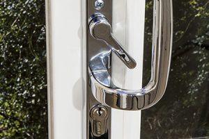 upvc patio door silver handle