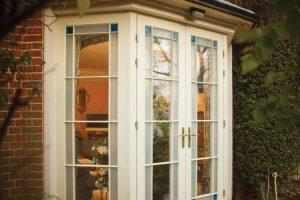 wooden windows french doors